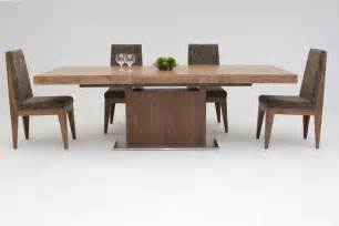 modern tables dining zenith modern walnut extendable dining table