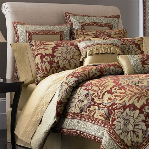 croscill fresco 7 pc bedding set queen size reversible