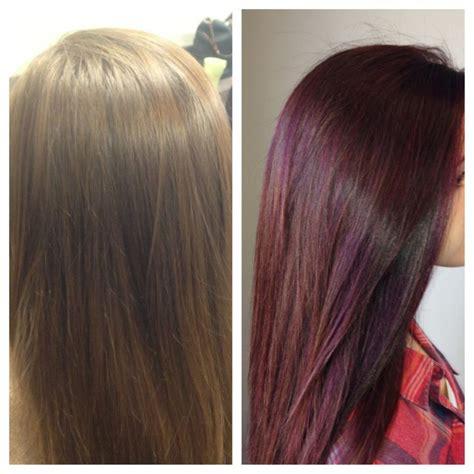 chocolate raspberry hair color chocolaterasberryhaircolour brown hairs of medium