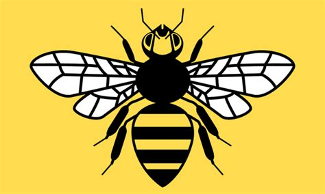 county flag of greater manchester honey bee by golborne
