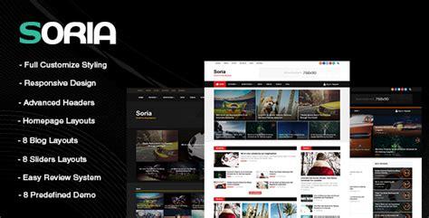 Word Vorlage Zeitschrift Soria Responsive Zeitschrift Vorlage Webdesign Seo