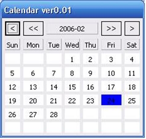 java swing calendar exle calendar date in java calendar template 2016