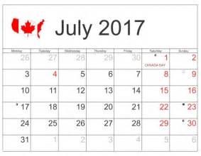 2017 Monthly Calendar Canada Print July Calendar 2017 Canada Free Monthly Calendar