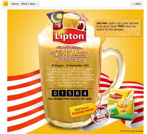 Teh Lipton Di Malaysia jq talks pledge teh tarik for malaysia