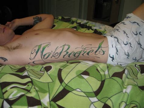 no regret tattoo no regrets tattoos designs ideas and meaning tattoos