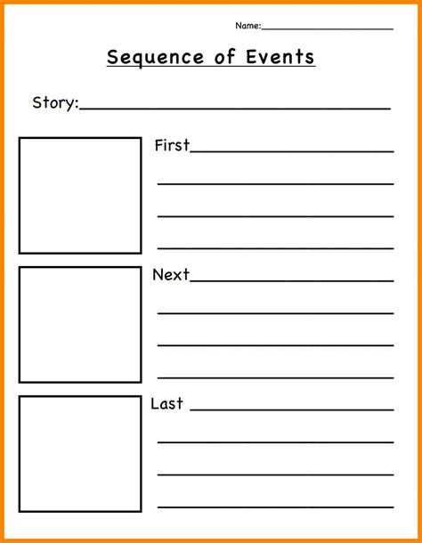 sequence and sequence of events worksheets calleveryonedaveday