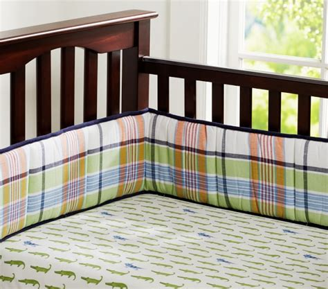 Pottery Barn Madras Crib Bedding Alligator Madras Baby Bedding Set Pottery Barn