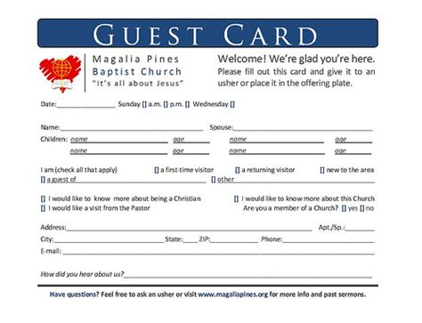 guest card template apartments guest card hi all i to redo this one it doesn t