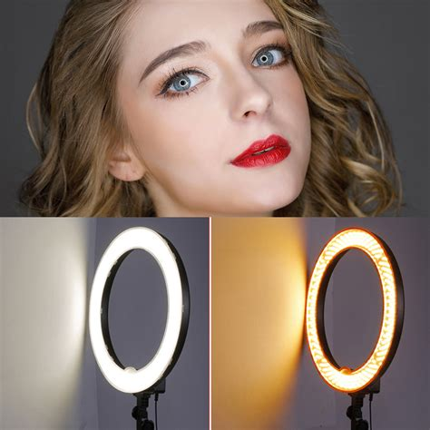 neewer led ring light neewer 18 quot 55w 240pcs led smd dimmable ring light w