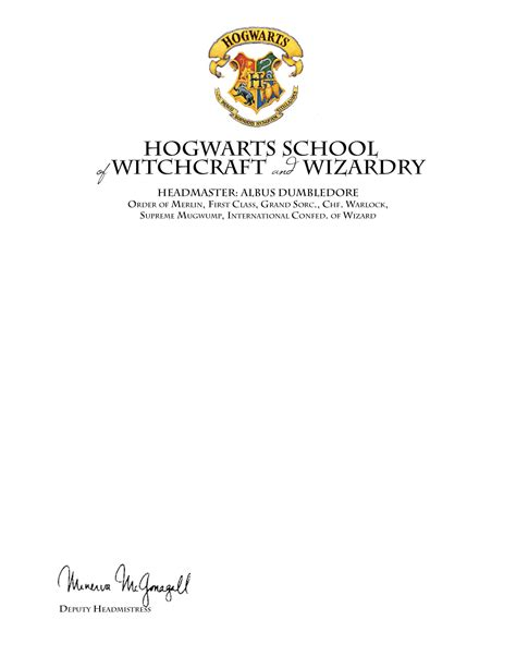 harry potter acceptance letter template a harry diy harry potter