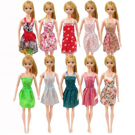 10x Kid Mini Dress Dolls Fashion Clothes Mixed Style For Pa popular handmade clothes buy cheap handmade