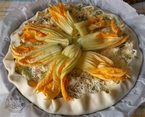 pasta fiori di zucca e ricotta torta salata zucchine ricotta e fiori di zucca in cucina