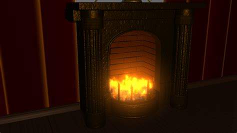 close up fireplace fireplace close up made in maya 2012 by detonatress on