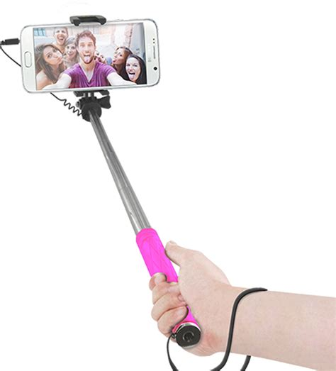 16cm Mini Selfie Stick Pink mini selfie stick pink bigben en audio gaming