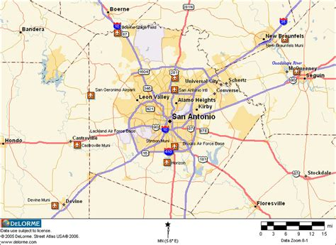 map of san antonio texas area san antonio texas map images