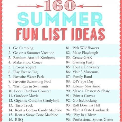 160 ideas to do during summer if you re bored trusper