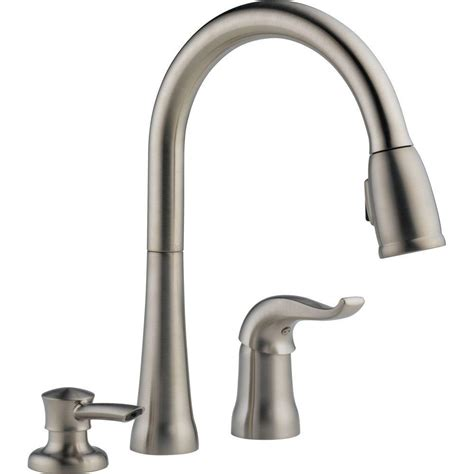 delta brushed nickel pull  faucet pull  brushed nickel delta faucet