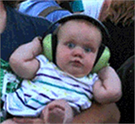 Baby Headphones Meme - baby concert gif find share on giphy