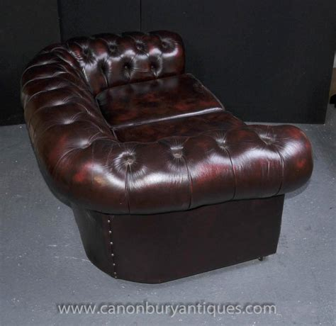vintage chesterfield sofa ebay vintage leather chesterfield sofa button