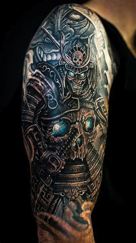 tattoo parlor qatar samurai tattoo with skull armor the blue ink of this