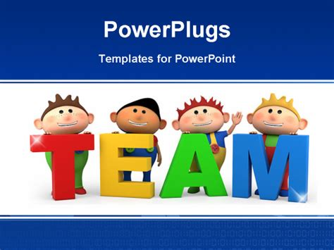 team powerpoint templates free boys with team letters high quality