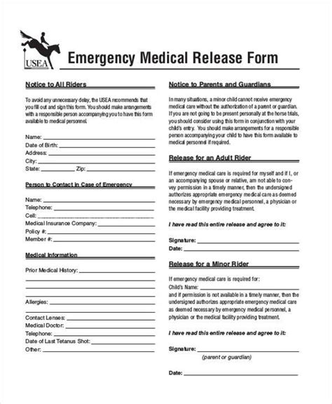 general release forms canada release and waiver forms