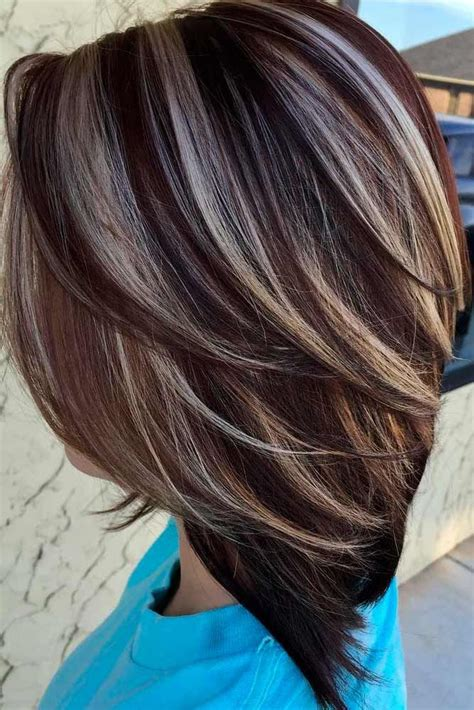 hair color idea 18 highlighted hair for brunettes highlighted hair and