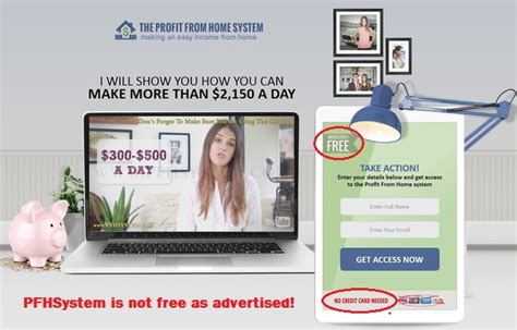 the profit from home system is a scam pfhsystem review