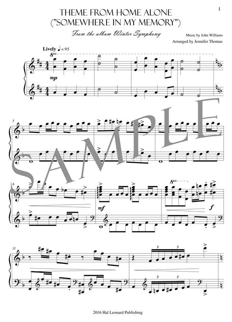 house music theme theme from home alone pdf sheet music jennifer