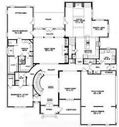 4 bedroom 2 story house floor plans 653756 two story 5 bedroom 4 5 bath french style house plan house plans floor plans home