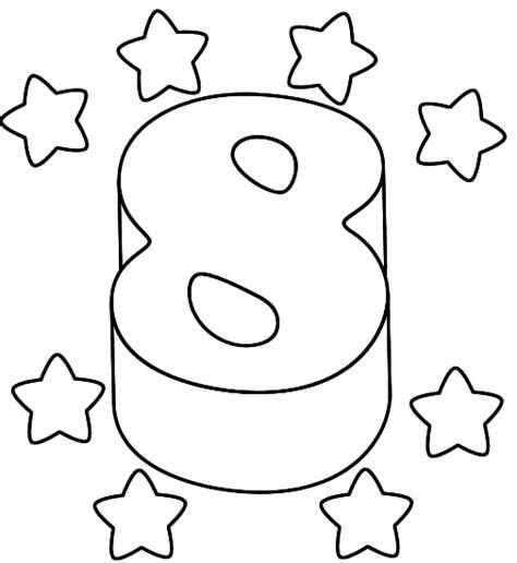 dibujo con el n mero 8 para pintar dibujos de n meros juegos infantiles gratis para ni 241 os y ni 241 as en vivajuegos com