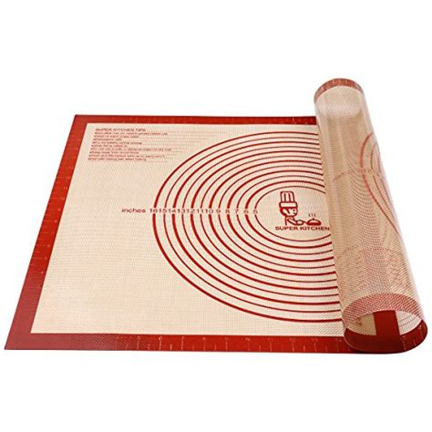 Dough Rolling Mat by Silicone Large Pastry Mat With Measurements 14 9 Quot X 23 3