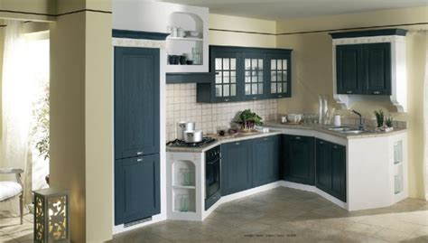 Pics For > Dark Blue Kitchen Walls