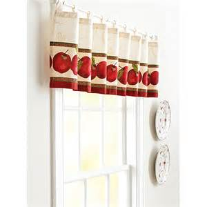 Apple Curtains For Kitchen Better Homes And Gardens Apples Valance Walmart