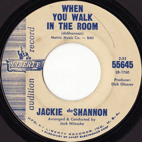 jackie deshannon when you walk in the room jackie deshannon till you say you ll be mine when you walk in the room 洋楽 paradise of