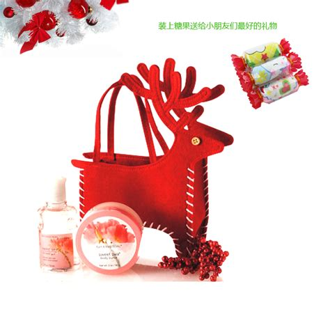 10 pcs christmas reindeer gifts bag deer new year candy