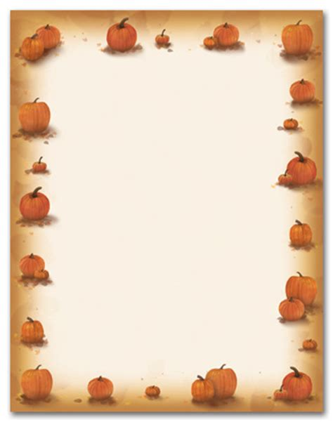 printable pumpkin stationery 5 best images of harvest printable stationery free