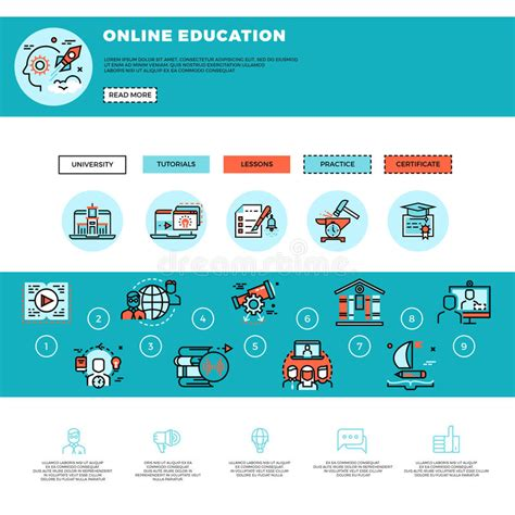 online tutorial website templates free download e learning education or training courses web design