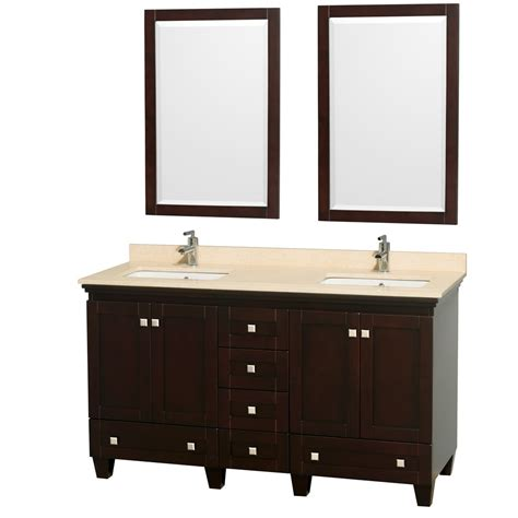 acclaim 60 quot espresso bathroom vanity set plenty of