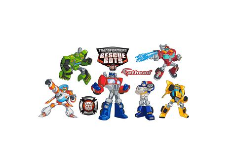 Custom Fatheads Wall Stickers transformers rescue bots collection wall decal shop