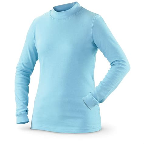 light blue turtleneck mens guide gear women s long sleeve mock turtleneck shirt