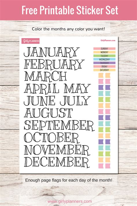 free printable planner set free printable sticker set for your planner or bullet
