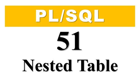 pl sql create table pl sql tutorial 51 how to create nested table collection