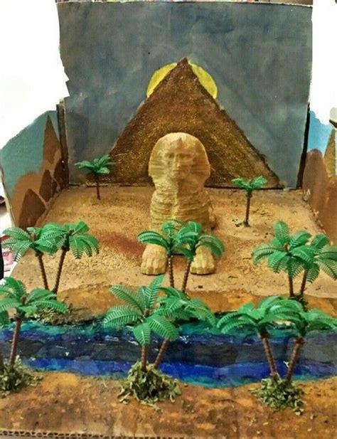 ancient egypt diorama project sphinx diorama school projects pinterest school