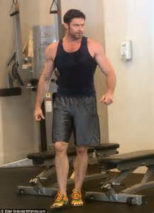 Bench Couple Shirt - hugh jackman flexes his mean biceps and rock hard abs during early morning gym visit daily