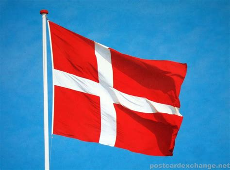 Finder Denmark The Dannish Flag Dannebrog Postcard Exchange Postcard Collection