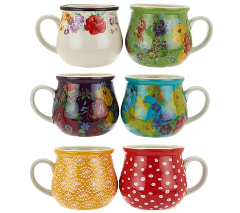 bring back men s cologne pioneer woman home garden pioneer woman garden meadow set of 6 jumbo ceramic mug set