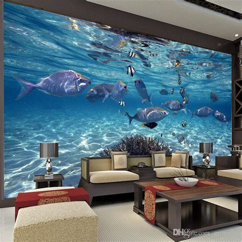 wall murals sale undersea world custom large size photo wallpaper 3d mural canvas non woven silk wallpaper