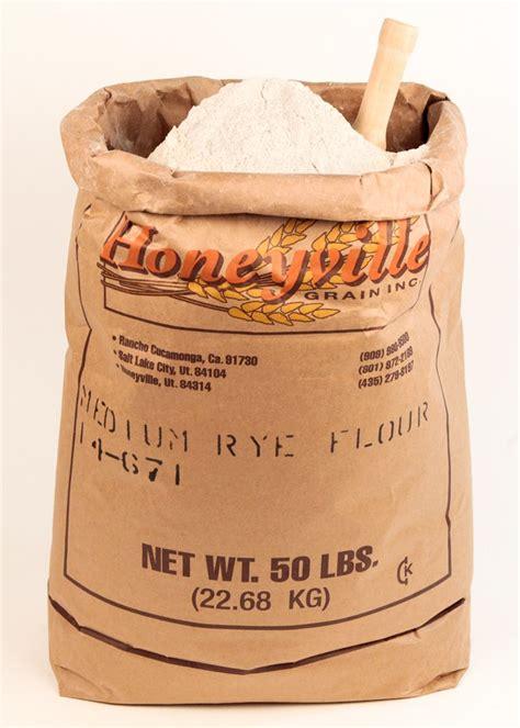 whole grain rye 50 lb medium rye flour 50 lb bag honeyville