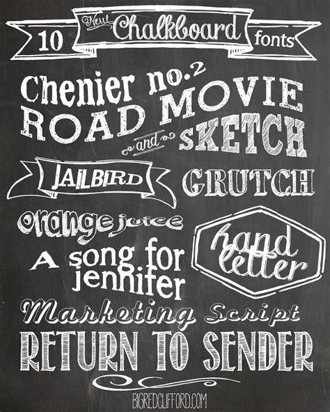 printable vintage fonts free chalkboard fonts and free printables